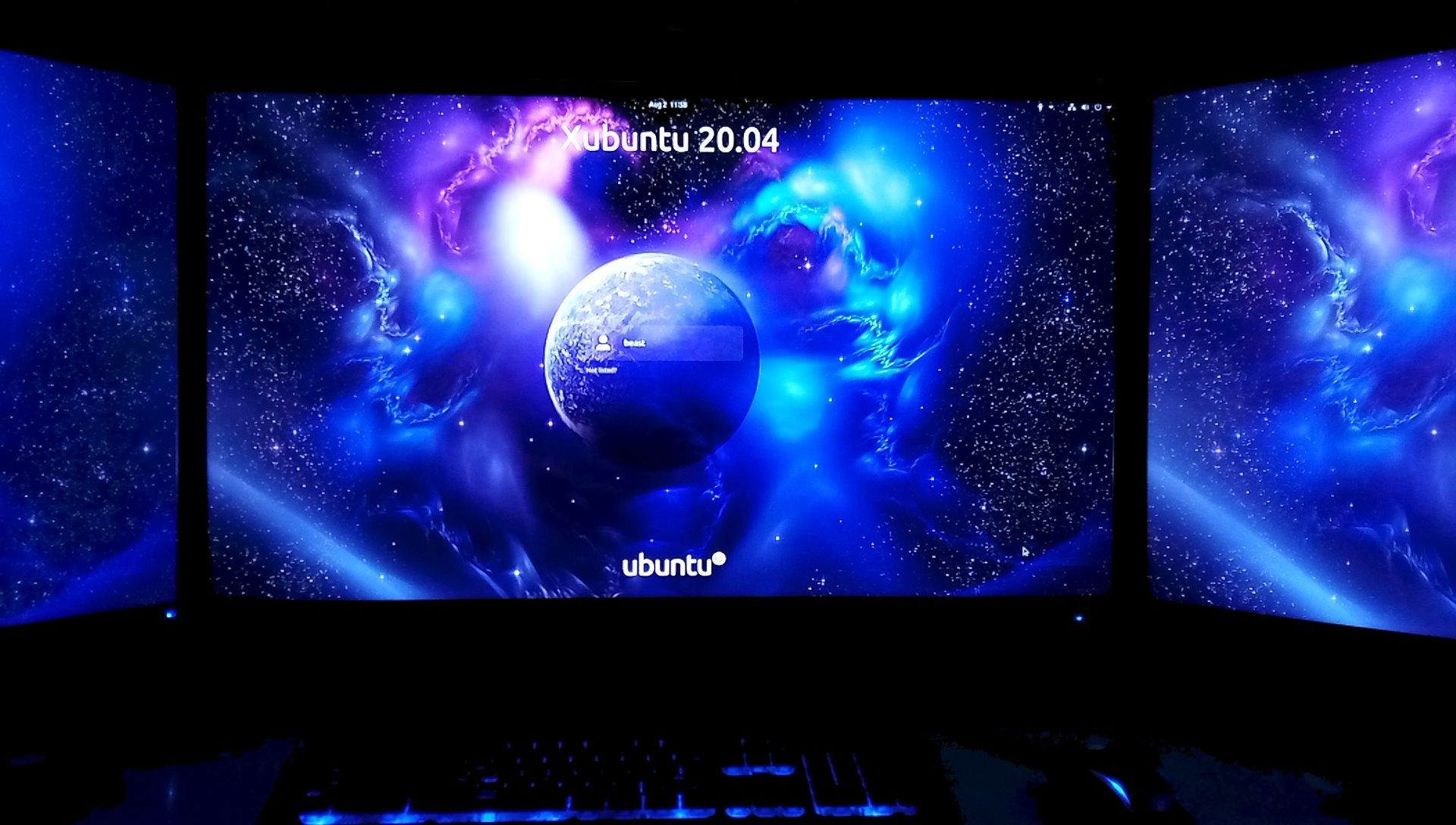 New Ubuntu login screen